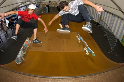 Ryan and Tristan. Showing there Hard flip skills!